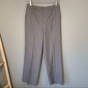 LOFT dress pants permanent pleat zip plaid 4